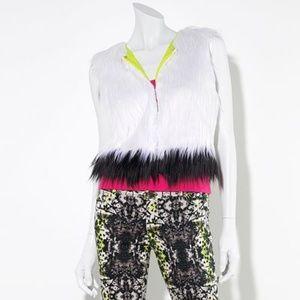 Princess Vera Wang Faux Fur Vest Size Medium NWOT